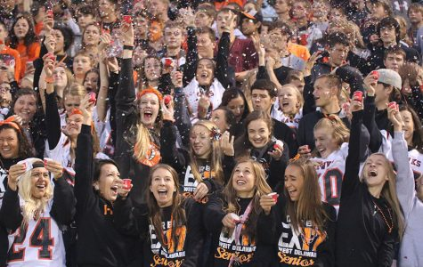 We're Here to Cheer:  Students Show School Spirit by Dressing up for Football and Volleyball Games.