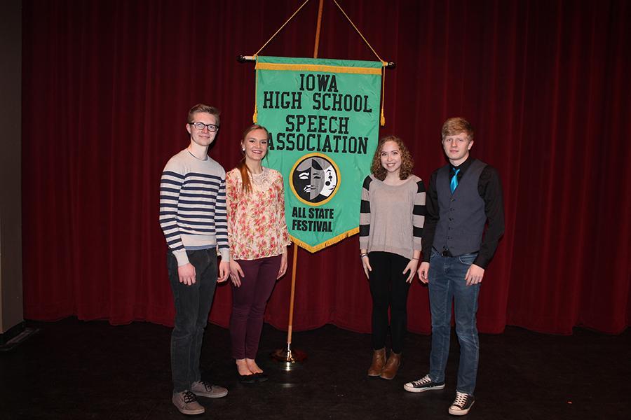 Holden Smith (11), Kara Hawker (12), Grace Reiss (10), and Ben Litterer (11).