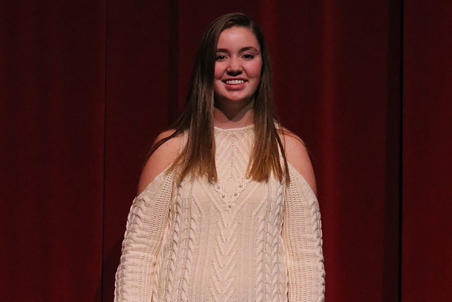 Congratulations+to+freshman+Sheeley+McMahon+for+her+acceptance+into+the+Opus+Honor+Choir.+McMahon+will+sing+along+with+180+other+vocal+students+ranging+in+grades+5-9+on+November+16+in+Ames.