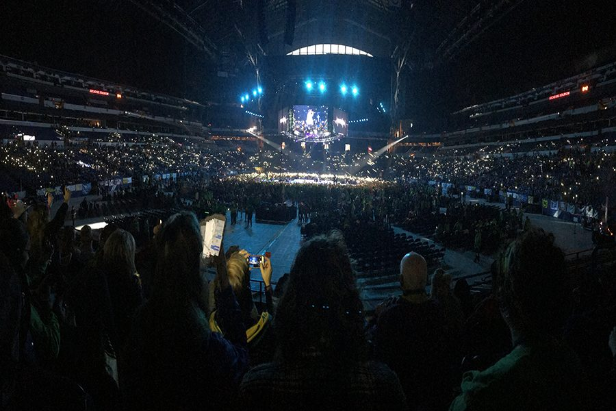 Twenty-six+thousand+people+fill+Lucas+Oil+Stadium+at+NCYC.