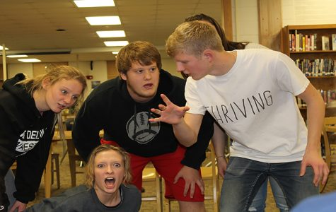 Speech Students Take their Improv Skills to the Public