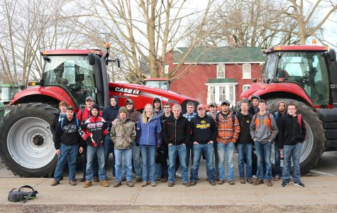 To Celebrate FFA Week, Students Drive Tractors to School