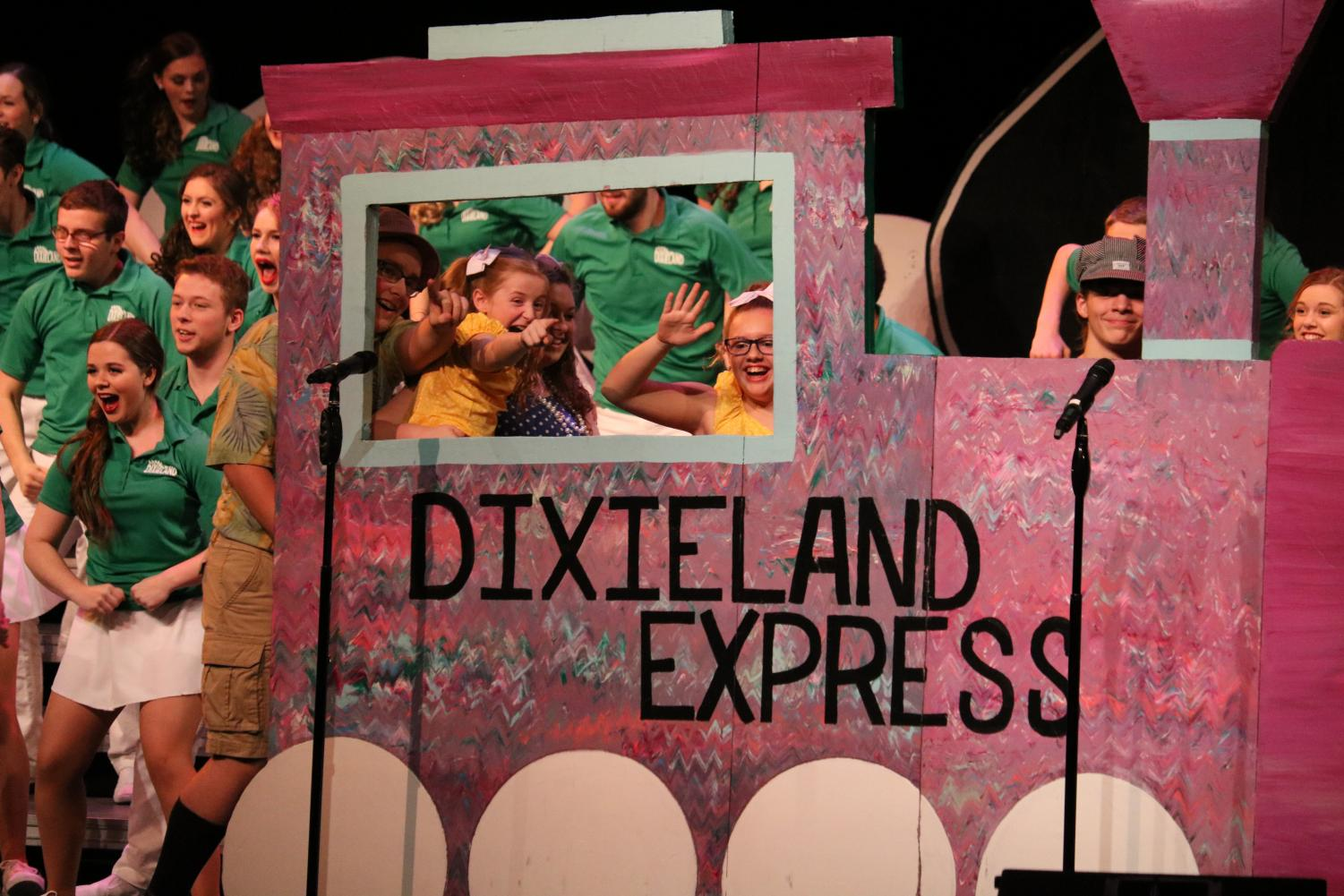 The+Dixieland+Express+is+revealed+to+audience+members.+