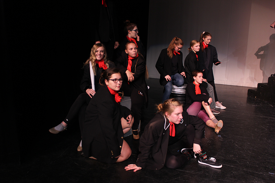 Students+rehearse+%22Step+in+Time%2C%22+while+wearing+their+chimney+sweep+attire.+From+left+to+right%3A+Karsyn+Welcher+%2810%29%2C+Rebecca+Cole+%2812%29%2C+Emma+Dunkel+%2811%29%2C+Hannah+Wenger+%2812%29%2C+Addy+Reetz+%2810%29%2C+Madelyn+Hogan+%289%29%2C+Gracie+Weeks+%2811%29%2C+Makayla+Gasper+%289%29%2C+Kaleah+Carter+%2811%29+
