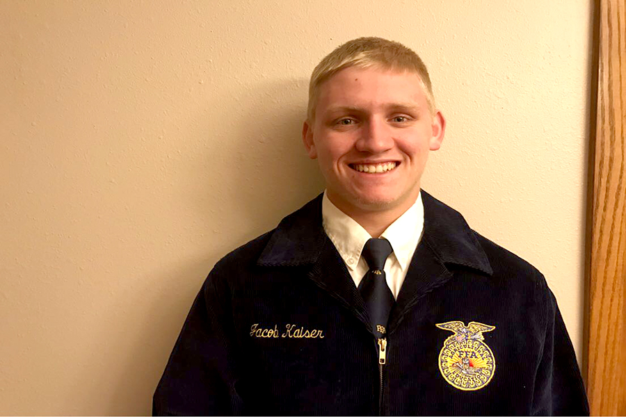 Jacob Kaiser will receive his Star Over Iowa Award at the State FFA Convention on April 16.