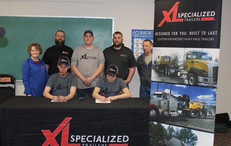 Seven Students Sign with Three Local Businesses