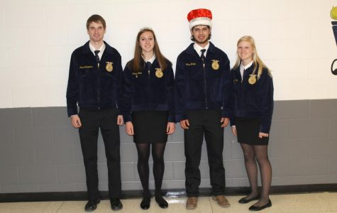 2019 Sweetheart Court: Grant Schnieders, Queen Kinley Kolbet, King Chad Bishop, and Chloe Thein. Not pictured: Emily Ronnebaum.