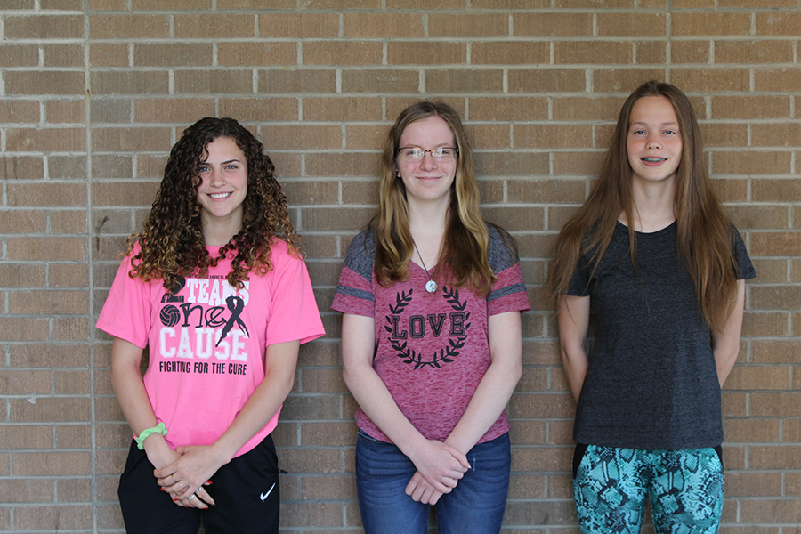 Eastern Iowa Reading Council Winners: Juliette Weber, Alicia Nachtman, and Anastasia White.