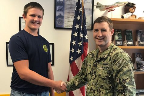 West Delaware Student Signs into Navy