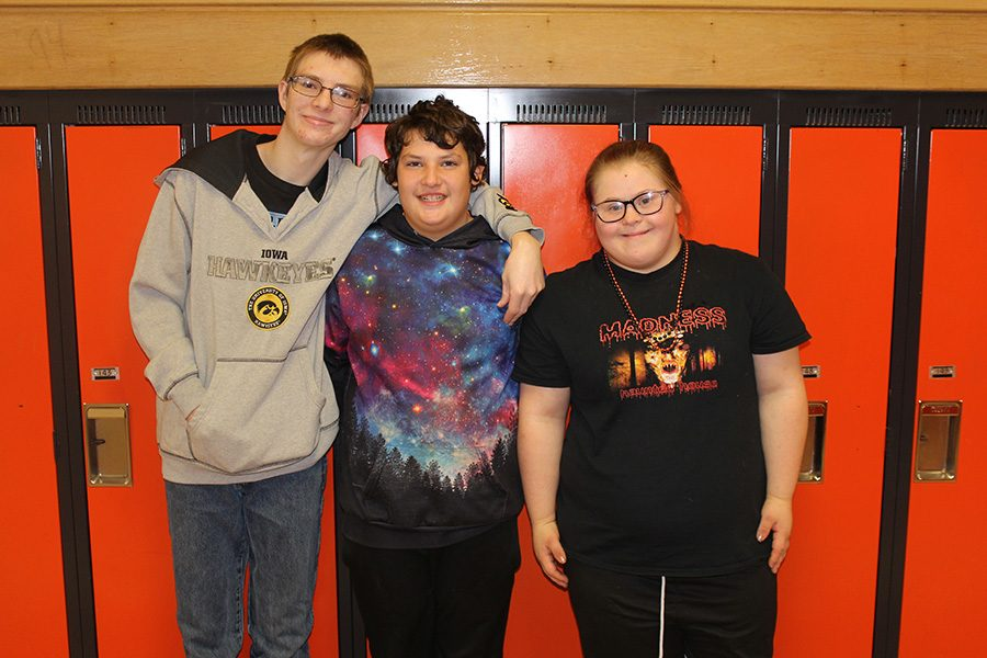 Special Olympic athletes Hunter Slaymaker (12), Jason Jones (9) and Mia Moreno (9) placed in the top two at the Northeast Bowling Competition.