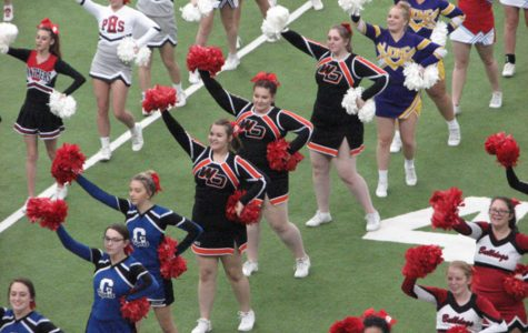 Cheerleaders Participate in Iowa Cheer Honor Squad