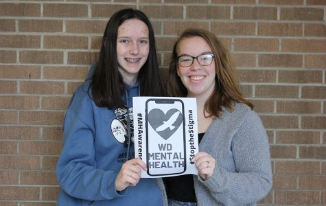 In order to raise awareness for mental health, juniors Grace Johnson and Melanie Loughren advertise their social media account. They currently have 318 followers on Instagram.