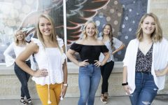 Homecoming Court: Jadyn Werner, Laney Demmer, Kaylee Osterhaus, Anna Werner and Taylor Hammer.
