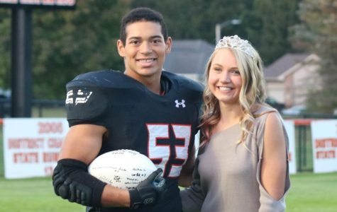Bouncing back to the traditional crowning of king and queen, West Delaware presents Hawk football fans with the coronation before the varsity game on Friday night. Christian Nunley was crowned king, and Laney Demmer was crowned queen.