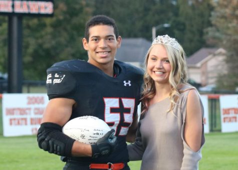 West Delaware Honors Homecoming King and Queen