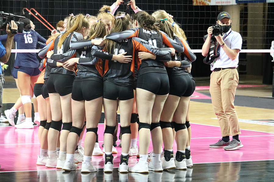 After losing the final set of the championship game, The Hawks come together to celebrate as a whole one last time.