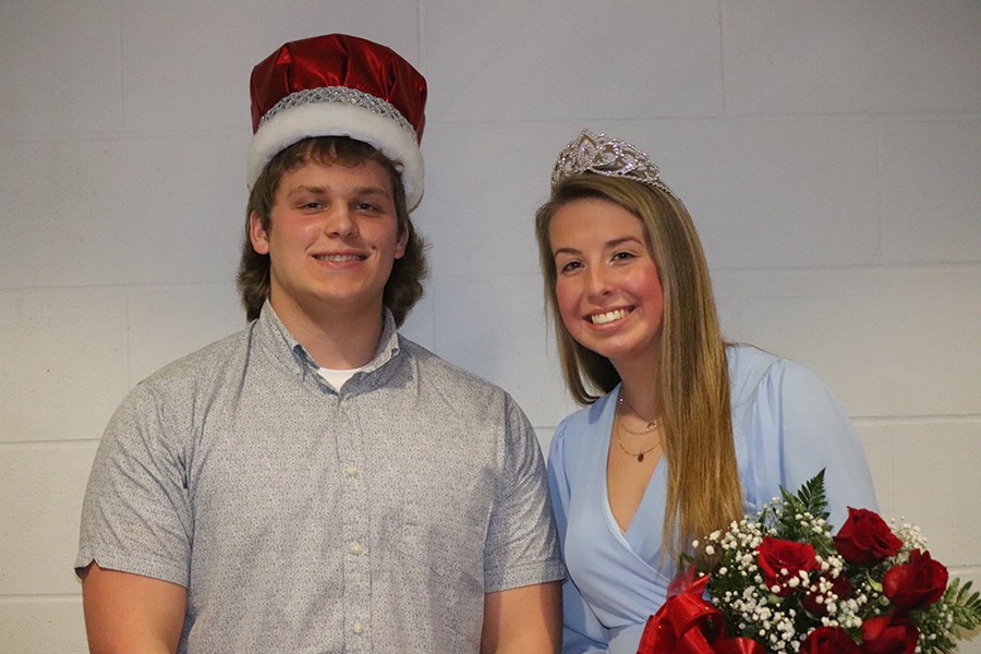 Juniors Cody Monaghan and Carlee Smith win king and queen.