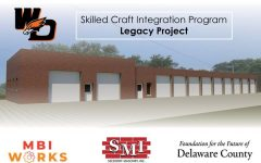 Seedorff Masonry partnered with West Delaware to help rebrick the old bus barn.